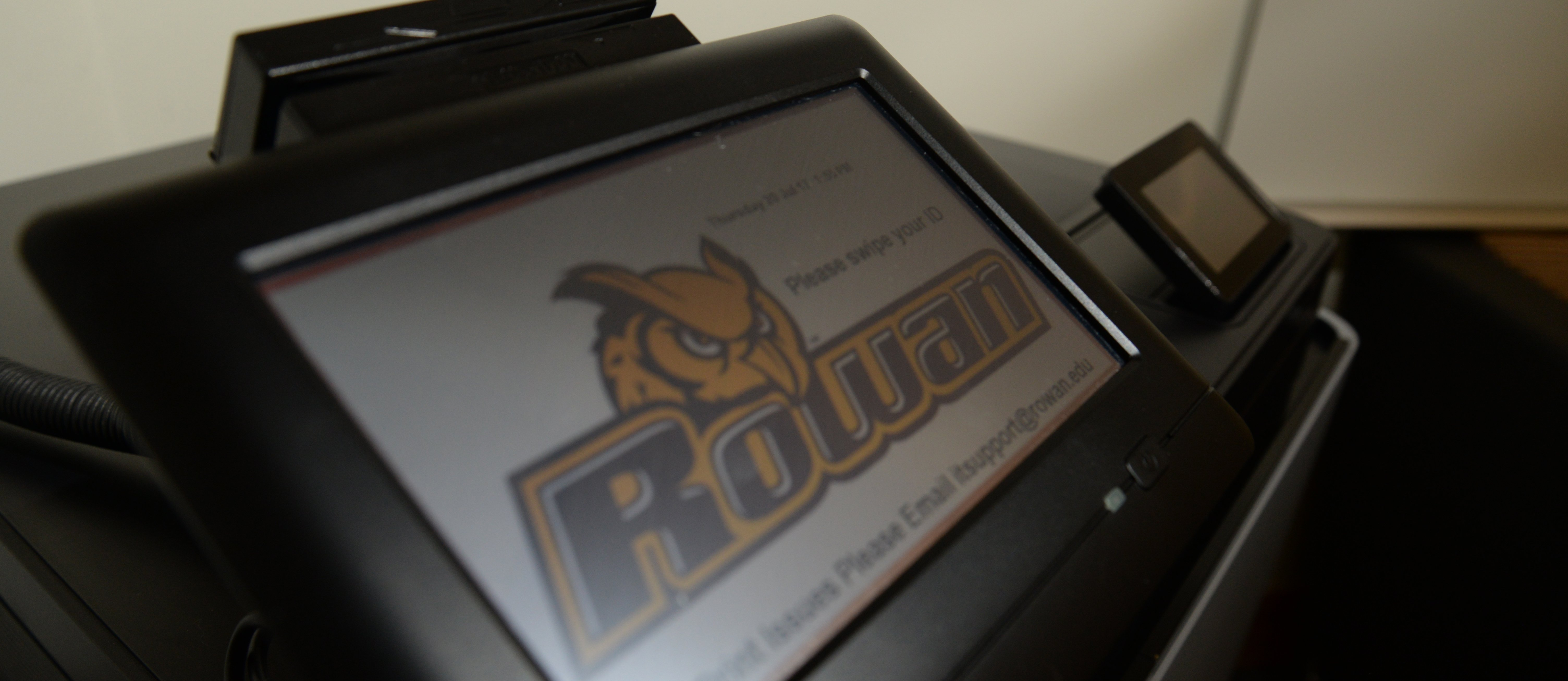 image of a rowan university printing kiosk